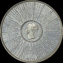 Finest Connu Grand 65mm Ngc Ms63 1840 Grande-bretagne Chronologie De Règne Médaille