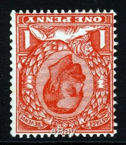 GB KG V 1912 Downey Head 1d. Scarlet Inverse Wmk Die 2 Wmk Couronne Sg 341a Mnh