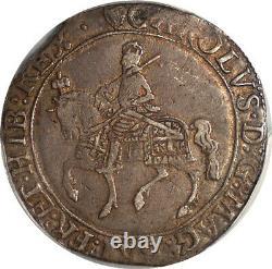 Grande Bretagne 1632-3 Charles I Silver Half Crown Pcgs Xf-40 Gold Shield