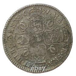 Grande Bretagne 1671 Charles II Silver Halfcrown S. 3366 1/2 Couronne