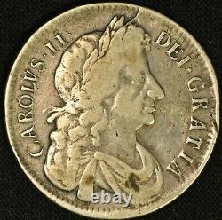 Grande Bretagne 1679 Demi-couronne Charles II