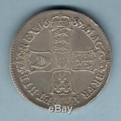 Grande Bretagne. 1687 James 11 Couronne. Tertio. Gfine