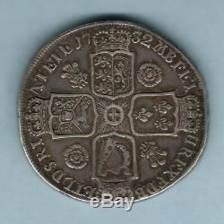 Grande Bretagne. 1732 George 11 Couronne. Roses & Panaches. Fav / Vf