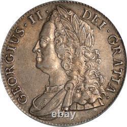 Grande Bretagne 1743 George II Silver Crown Pcgs Au-50