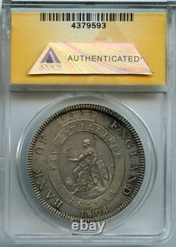 Grande Bretagne 1804 King George III Dollar Bank Od England Toned Anacs-au-58