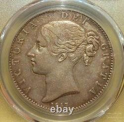 Grande Bretagne 1847 Victoria Young Head Crown Pcgs Au50