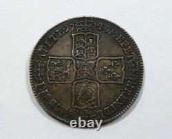 Grande Bretagne George II Grand Siler Lima Demi Couronne 1746 Très Nice Très Rare