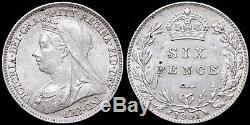 Grande Bretagne. Quatre Coins Victorienne, Couronne, Sixpence, Penny Et Farthing