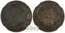 Grande Bretagne. Victoria 1847 Ar Couronne Gothique. Ngc Pr58 Scbc-3883 Esc-2571