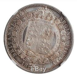 Grande-bretagne 1/2 Couronne 1887, Ngc Ms64, La Reine Victoria (1838 1901)