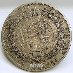 Grande-bretagne 1/2 Couronne Km # 764 Coin De La Reine Victoria, Argent 14.1380g