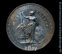 Grande-bretagne 1 Dollar 1912 Commerce B Argent Au Unc Km # T5 Frosty Blanc