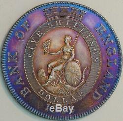 Grande-bretagne 1 Dollar 5 Shilling 1804 George III Banque D'angleterre Jeton Km # Tn1