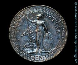 Grande-bretagne 1 Dollar Trade 1911/1911 B Au Argent Unc Km # T5 Unlisted