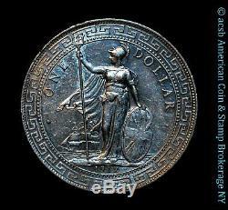 Grande-bretagne 1 Dollar Trade 1912 B Argent Au Unc Km # T5 Frosty Lustrous