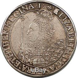 Grande-bretagne 1601 Elizabeth I Silver Crown Bonne Ef