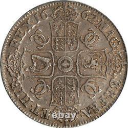 Grande-bretagne 1662 Charles II Silver Crown Pcgs Xf45 Medal Alignment