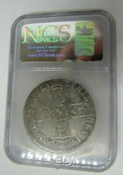 Grande-bretagne 1696 Couronne, Certifié Par Ncs (ngc) Vf Détails, Nettoyé Improperly