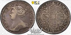 Grande-bretagne 1714 1/2 Couronne Reine Anne Pcgs Vf30