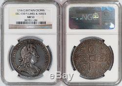 Grande-bretagne 1716 George I Couronne Ngc Au-53 Valeur Le Catalogue Des High