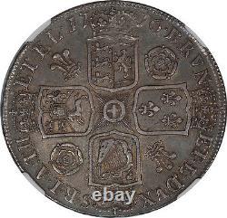 Grande-bretagne 1716 George I Crown Ngc Au-53 Valeur Catalogue Élevée