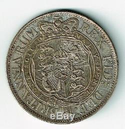 Grande-bretagne 1818 1/2 Demi-couronne Du Roi George III Petit Lauréat Du Chef Ef