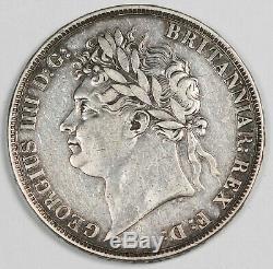 Grande-bretagne 1821 Argent Crown Monnaie Xf Choix George IIII Km # 680.1 Uk Secundo