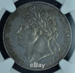 Grande-bretagne 1821 Demi-couronne Ngc Au58 Beau Champs Propres Et Tonifiant
