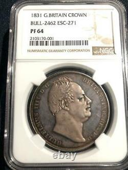 Grande-bretagne 1831 Proof Crown, William Iiii, Esc-271, Mintage 100, Ngc Pf-64
