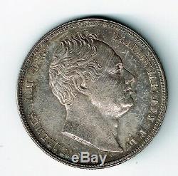 Grande-bretagne 1834 1/2 Demi-couronne Du Roi William IV Ef Ww Dans Script Voir Les Photos