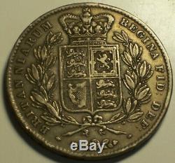 Grande-bretagne, 1844 Victoria Crown. 94000 Mintage