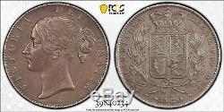 Grande-bretagne, 1844 Victoria Crown. Pcgs Xf Détails. 94000 Mintage