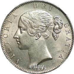 Grande-bretagne 1845 Victoria Silver Crown Ngc Ms 62+