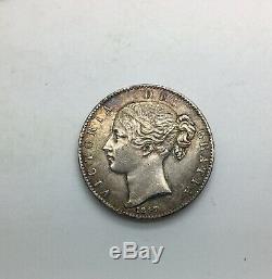 Grande-bretagne 1847 Année XI Victoria Jeune Couronne De Tête De Sharp Plaire MID Grade