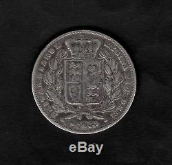 Grande-bretagne 1847 Couronne Coin Reine Victoria Jeune Chef