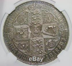Grande-bretagne 1847 Preuve Gothique Couronne De La Reine Victoria Ngc Pf 58