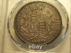 Grande-bretagne, 1847 Victoria Crown. Pcgs Xf 40. 141 000 Mintage