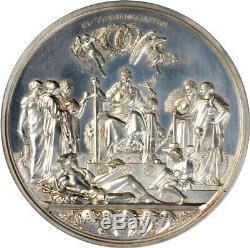 Grande-bretagne 1887 Victoria Jubilé D'or Relief Médaille D'argent Pcgs Sp-62
