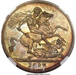Grande-bretagne 1893 Victoria Preuve Couronne Ngc Pf65 Exemple De Prime