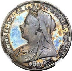Grande-bretagne 1893'veiled Head ' La Preuve De La Couronne Ngc Pf-64 Gem D'une Pièce De Monnaie