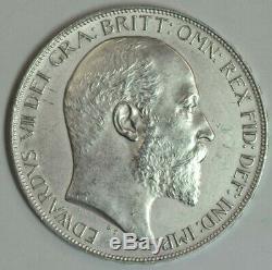 Grande-bretagne 1902 King Edward VII St George Silver Crown Coin Ef +
