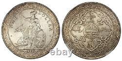 Grande-bretagne 1929-b Ar Dollar. Ngc Ms64 Bombay. Britannia Pridmore 26 Dav. 407