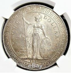 Grande-bretagne 1930-b Silver Dollar Trade Mbac Ms-63