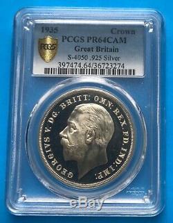 Grande-bretagne 1935 Rocking Horse Crown Coin Preuve S-4050 Pcgs Pr-64 Cameo