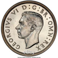 Grande-bretagne 1937 George VI Preuve Silver Crown Pcrs Pr-66 Grade Rare