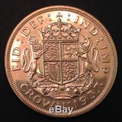 - Grande-bretagne 1937 Une Médaille D'argent De La Couronne George VI Preuve