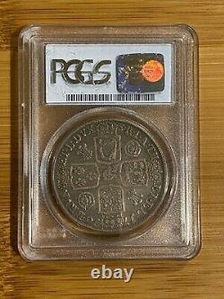 Grande-bretagne Angleterre 1716 George I Crown Pcgs Vf30 Spécimen Rare