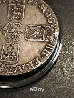 Grande-bretagne Argent William III 1695 Couronne Rare Au