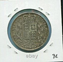 Grande-bretagne Belle Historique Rare Tonique Qv Silver Crown, 1845, Km# 741