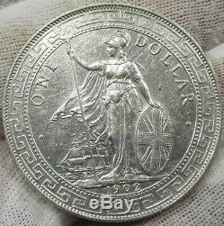 Grande-bretagne Chine Hong Kong 1902 B Silver Dollar # 010402b1